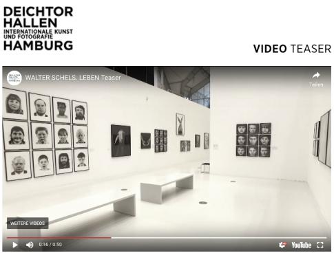 WALTER SCHELS –LEBEN Deichtorhallen Hamburg